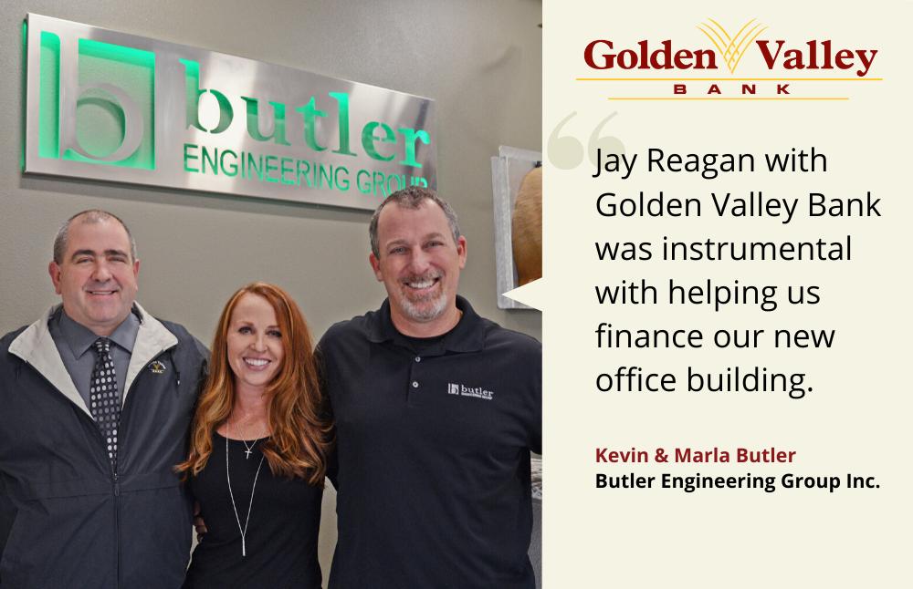 Kevin & Marla Butler, Golden Valley Bank customer testimonials