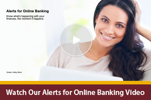 Interactive Video Player on alerts for personal online banking