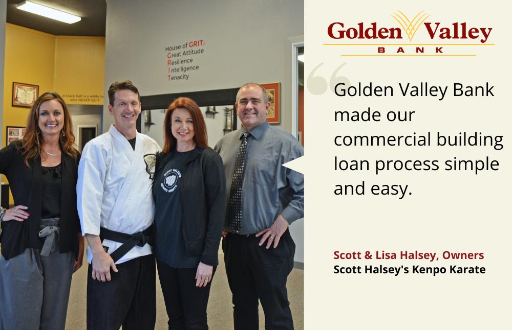 Scott & Lisa Halsey; Golden Valley Bank customer testimonials