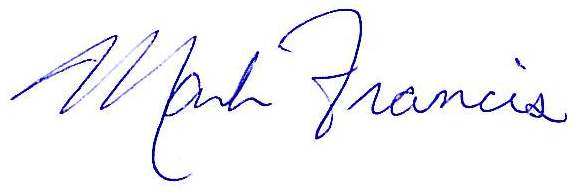 Mark Francis Signature